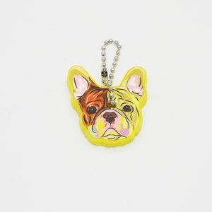 French Bulldog Key Chain Silicone