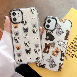 Cute French Bulldog Transparent iPhone Case