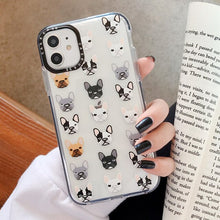 Load image into Gallery viewer, Cute French Bulldog Transparent iPhone Case