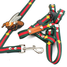 Load image into Gallery viewer, Dog Harness and Leash Sets Bee Embroidery