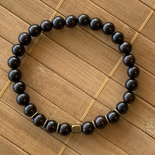 Mala Kit - 8mm Polished Ebony Wood