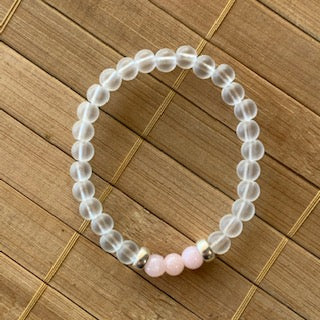 Mala Kit - 6mm Frosted Glass/Pink Jade