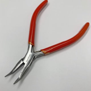 Slimline Bent Nose plier with spring