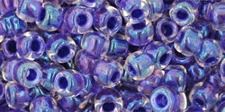 TR6-181  Inside Colour Rainbow Crystal/Tanzanite Lined