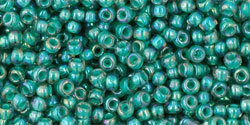 T11-1833  Inside Colour Rainbow Light Sapphire/Opaque Teal Lined