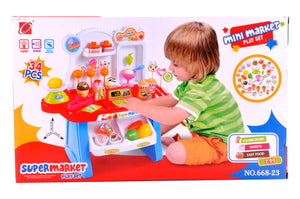34 Pieces Beautiful Mini Market Play Set For Kids | Heavy Material