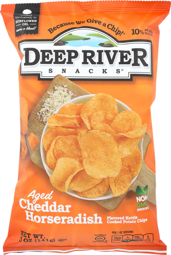 Deep River, Potato Chip Cheddar Horseradish Regional, 5 oz`