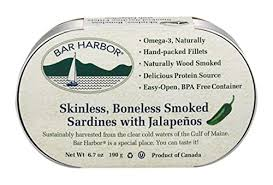 Bar Harbor, Sardines Smoked with Jalapeno, 15 oz
