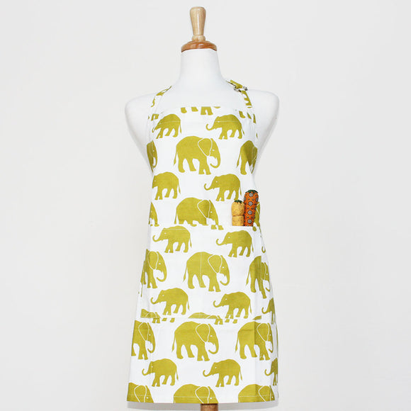 Foxy & Winston, Apron Adult Elephants Green, 1 unit