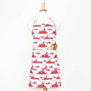Foxy & Winston, Apron Adult Tugboat Red, 1 unit