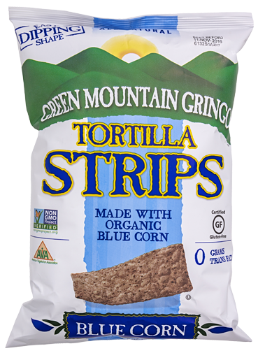 Green Mountain Gringo, Blue Corn Tortilla Chips Regional, 8 oz bag