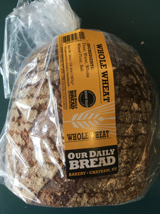 Our Daily Bread, Bread Whole Wheat Sliced Chatham NY, 1 unit