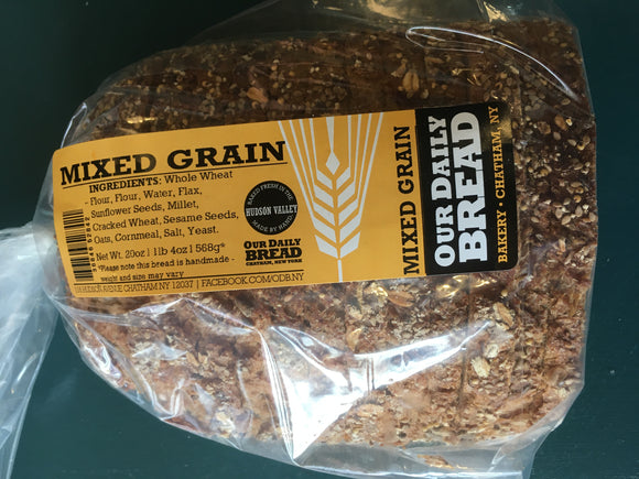 Our Daily Bread, Bread Mixed Grain Sliced Chatham NY, 20 oz