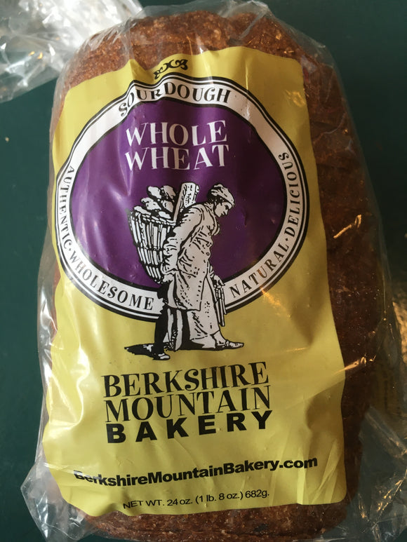 Berkshire Mountain, Bread Sliced Whole Wheat Housatonic MA, 24 oz