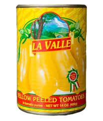 La Valle, Tomato Canned Peeled Yellow, 14 oz