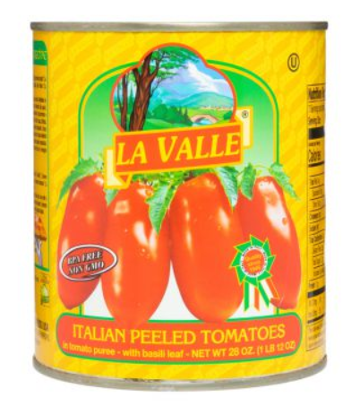 La Valle, Tomato Red Canned Peeled, 28 oz