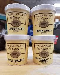 Maple Valley, Ice Cream French Vanilla Regional, pint