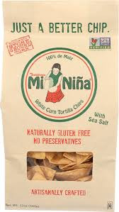 Mi Nina, Chip White Corn Tortilla Regional, 12 oz