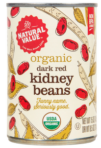 Natural Value, Dark Red Kidney Beans Organic, 15 oz can