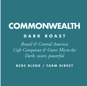 Barrington Coffee, Commonwealth Whole Bean Local, 12 oz