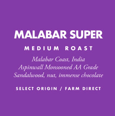 Barrington Coffee, Malabar Super Whole Bean Local, 12 oz