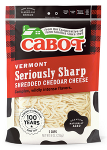 Cabot, Cheese Cheddar Shredded Seriously Sharp Regional, 8 oz