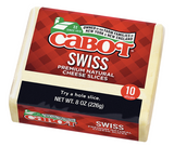 Cabot, Cheese Swiss Sliced Regional, 8 oz