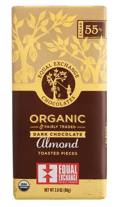 Equal Exchange, Chocolate Almond Dark Organic Regional, 2.8 oz