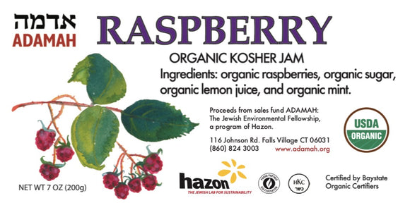 ADAMAH, Jam Raspberry Organic Falls Village CT, 7 oz