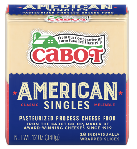 Cabot, Cheese American Singles Regional, 12 oz