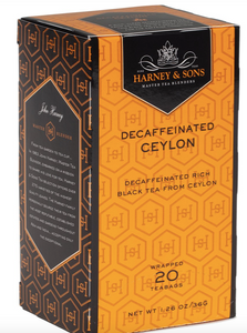 Harney and Sons, Tea Decaffeinated Ceylon Local, 20 bags