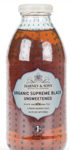 Harney and Sons, Tea Supreme Black Unsweetened Bottled Organic Local, 16 oz