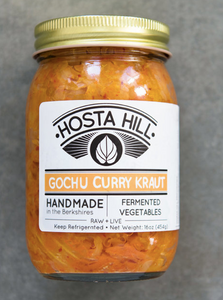 Hosta Hill, Sauerkraut Gochu Curry Local, 16 oz