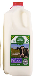 Hudson Valley Fresh, Milk 2% Regional, Half Gallon