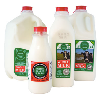 Hudson Valley Fresh, Milk Whole Regional, Half Gallon
