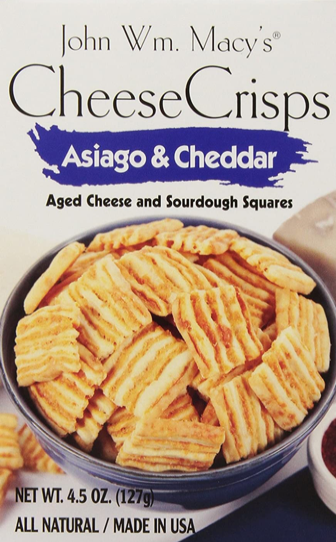 John WM Macy's, Crackers Asiago & Cheddar Regional, 4.5 oz