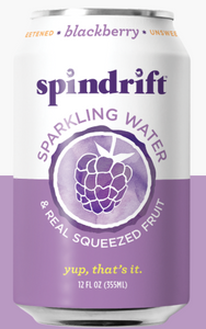 Spindrift, Seltzer Blackberry Regional, 12 oz