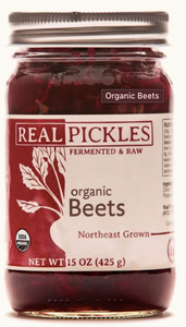 Real Pickles, Beet Fermented Organic Regional, 15 oz