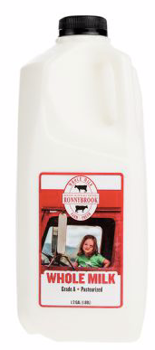 Ronnybrook, Milk Whole, 1/2 Gallon