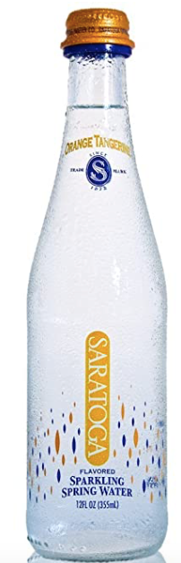 Saratoga, Water Sparkling Orange Tangerine Regional, 12 oz
