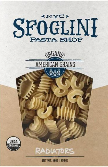 Sfoglini, Pasta Radiator Whole Grain Organic Regional, 16 oz