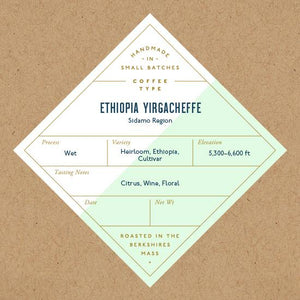 Six Depot, Coffee Ethiopian Yirgacheffe Whole Bean West Stockbridge MA, 12 oz