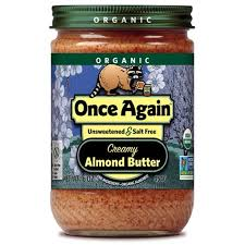 Once Again, Almond Butter Creamy Unsalted Unsweetened Organic, 16 oz