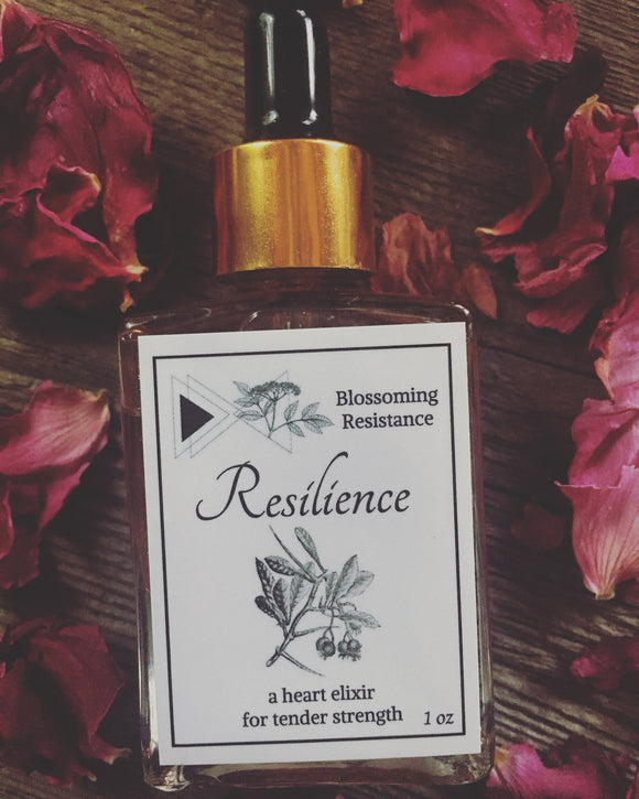 Blossoming Resistance, Elixir Resilience Cheshire MA, 1 oz