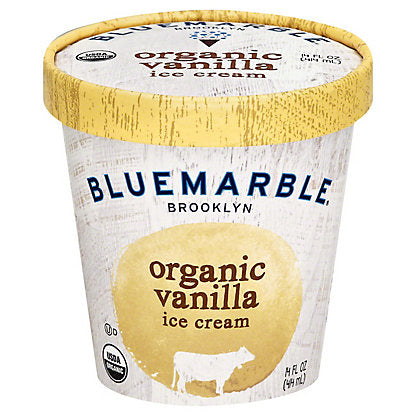 Blue Marble, Ice Cream Vanilla Organic Local, 14 oz