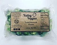 Valley Veggies, Broccoli Florets Frozen Greenfield MA, 12 oz