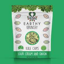 Earthy Krunchy, Kale Chips Sour Cream & Onion Middleton MA, 3 oz