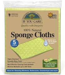 If You Care, Sponge Natural Cloth, 5 pieces