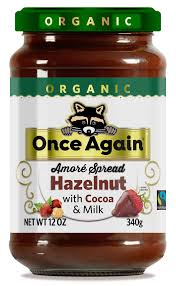 Once Again, Hazelnut Spread with Cocoa and Milk Organic, 12 oz