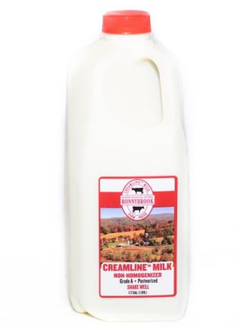 Ronnybrook, Milk Creamline Local, Half Gallon